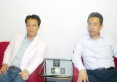 (左)上杉祥三 (右)出口光